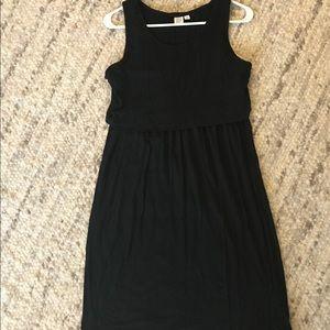 Gap Maternity sleeveless nursing dress, black